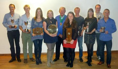 Trophies were presented to all division winners by league president Malcolm Huntington at David Lloyd.